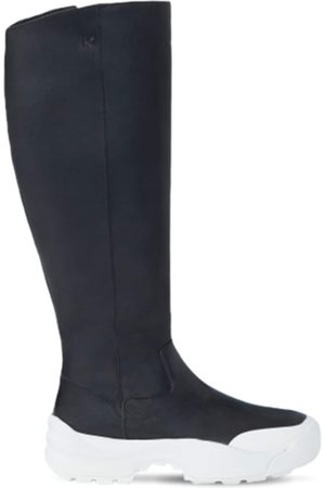 Kenzo 50mm Work Leather Tall Boots