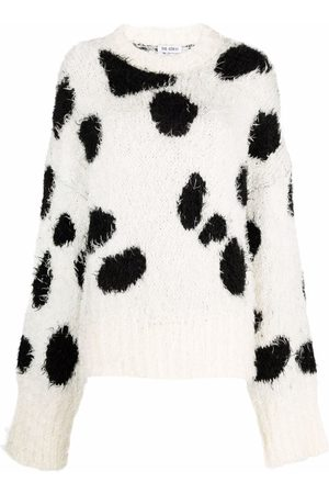 The Attico Women Jumpers - Cow-print knitted jumper
