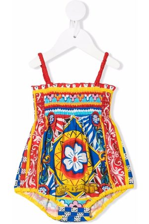 Dolce & Gabbana Kids Baby Rompers - Abstract-print romper