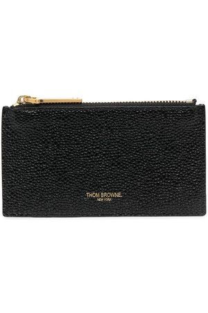 Thom Browne Men Wallets - Wallet with zip and signature stripe detail