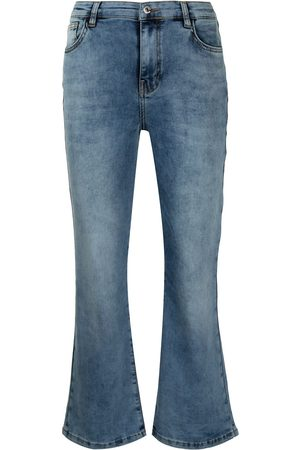 Twin-Set Faded cropped jeans