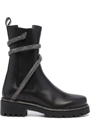 René Caovilla Women Ankle Boots - Snake-embellished leather ankle boots