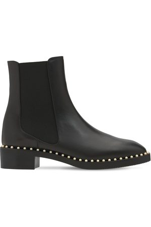 Stuart Weitzman 30mm Cline Leather Ankle Boots