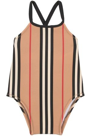 Burberry Kids - Icon Stripe Swimsuit - Girl - 24 Months - - Sun suits