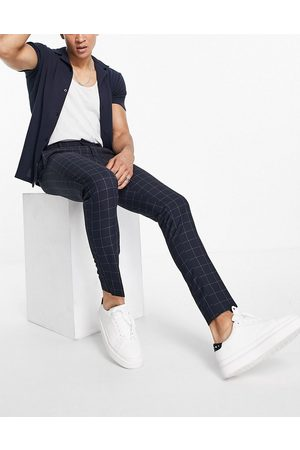 New Look Skinny smart trousers in check