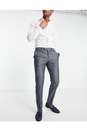 Twisted Tailor Suit trousers with micro geo jaquard in and white