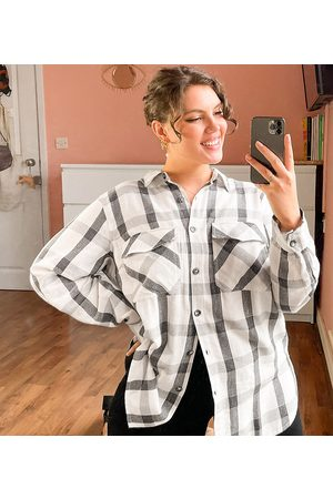 New Look New Look Curve check shirt in black