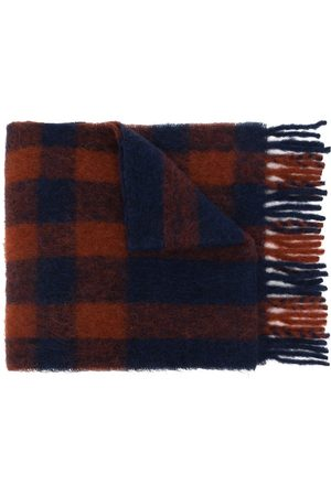 MULBERRY Fringed check scarf