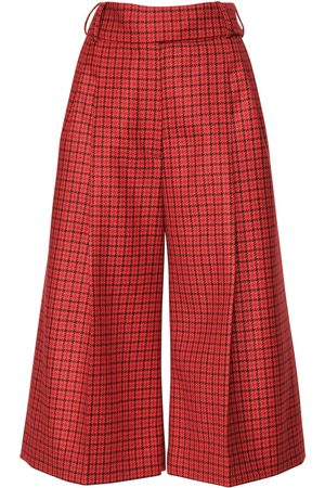 ALEXANDRE VAUTHIER Cropped Check Wool Pants