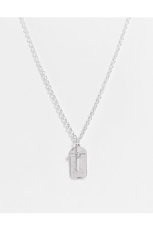 Icon Brand Cross and dog tag pendant in