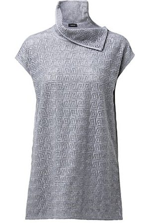 AKRIS Women Short Sleeve - Trapezoid Embroidered Wool-Blend Top