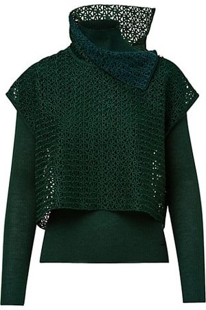 AKRIS Women Infinite Cashmere-Blend Embroidered Sweater