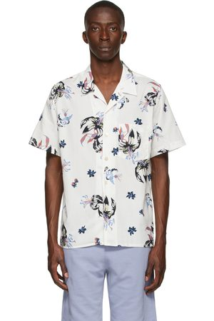 Men Short sleeves - PS by Paul Smith Off-White Floral Casual Short Sleeve Shirt