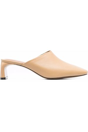 12 STOREEZ Grained-leather mules