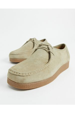 River Island Lace up moccasin in stone