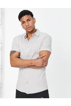 River Island Short sleeve jersey muscle shirt in