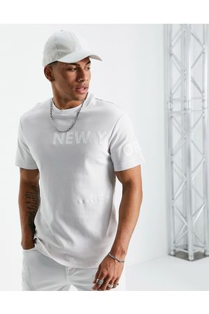 River Island New york side print t-shirt in
