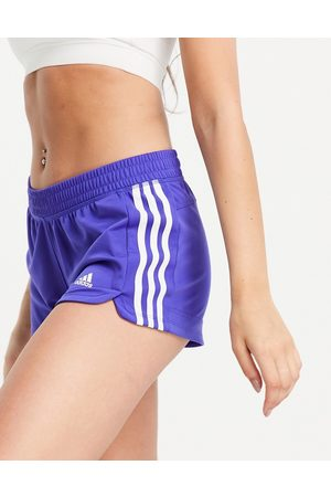 adidas Adidas Training Pacer 3 stripe knit shorts in