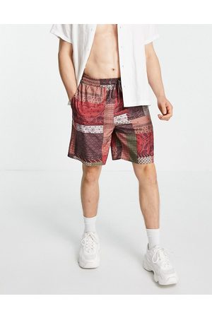 Mennace Shorts co-ord in multicoloured patchwork print