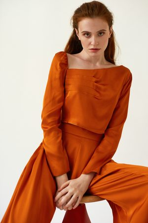 DALB FLUTTER Cropped Top with Asymmetric Neckline