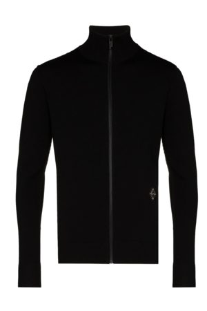 A-cold-wall* Slim fit knit zip-up