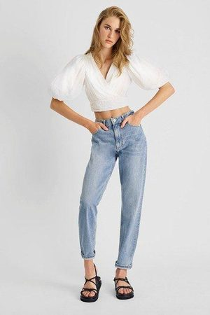 French Connection Boiella Gigi Embroidered Cropped Top- summer -72QAX