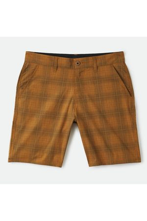Brixton Choice Chino Crossover Shorts - Copper/Steel Blue