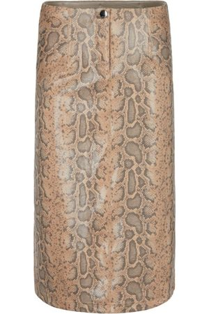 Marc Cain FAUX SUEDE SKIRT WITH SNAKE PRINT