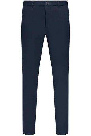 HUGO BOSS STANINO17-W Dark Slim-fit Trousers in Washed Stretch Cotton 50450341