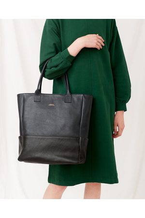 beaumont MONTPELLIER Leather Shopper Bag In Navy And