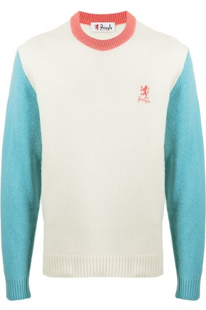 PRINGLE OF SCOTLAND Archive colour-block lambswool-blend jumper