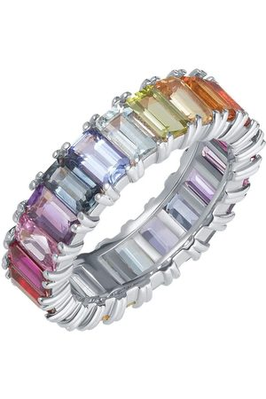 CARBON & HYDE Rainbow Emerald Eternity Band - White Gold