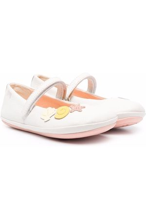 Camper Twins sea shell touch-strap flats