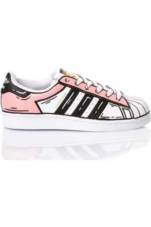 Adidas WOMEN'S SUPERSTARCOMICSCAND LEATHER SNEAKERS