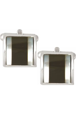 Dalaco Onyx & Mother of Pearl Square Curved Cufflinks