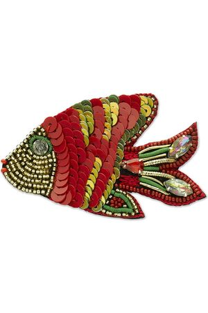 Narratives The Line Red & Green Fish Brooch