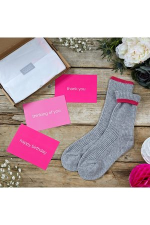 Cove Letterbox gift cashmere bed socks