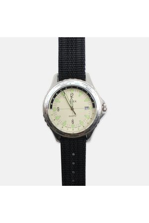 Time X Archive Timex Archive Navi World Time 38mm Fabric Strap Watch - Cream