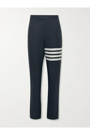 Thom Browne Slim-Fit Tapered Striped Wool Suit Trousers