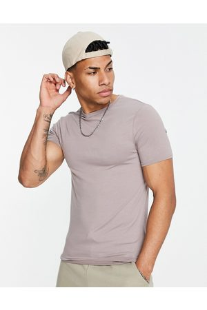 River Island Muscle fit t-shirt in stone