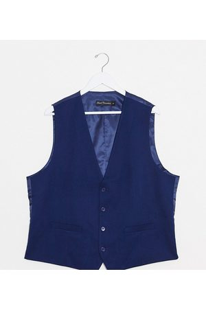 French Connection PLUS wedding slim fit flannel waistcoat
