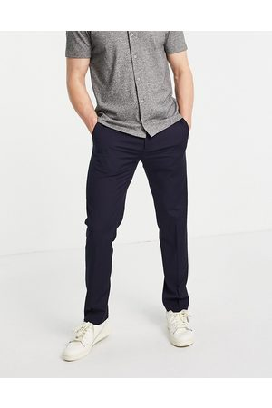 River Island Slim smart trousers in navy