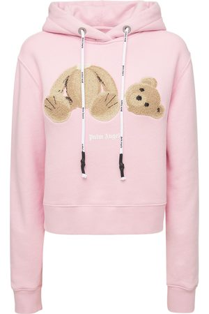 Palm Angels Lvr Exclusive Bear Fitted Cotton Hoodie