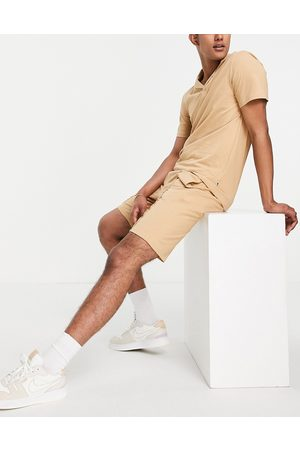 Only & Sons Men Sets - Co-ord sweat shorts in tan