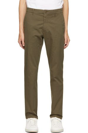 Men Stretch Pants - Norse Projects Green Regular Light Stretch Aros Trousers
