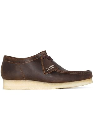 Clarks Men Boots - Wallabee leather lace-up boots