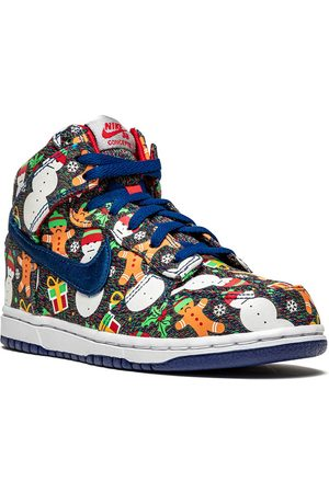 """Nike X Concepts Dunk High """"Ugly Sweater"""" sneakers"""