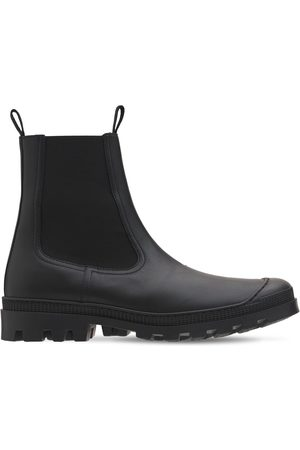 Loewe Men Ankle Boots - Leather Chelsea Boots