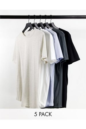 River Island Men Short Sleeve - Muscle 5 pack t-shirts in