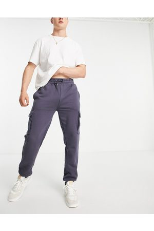 River Island Slim fit cargo joggers in